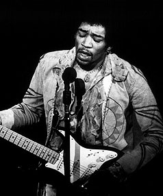 RIFFTASTIC: Jimi Hendrix has been voted as having creatd the best guitar riff of all time.