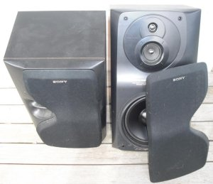 Sony SS LB 500 3 Way Stereo Speakers